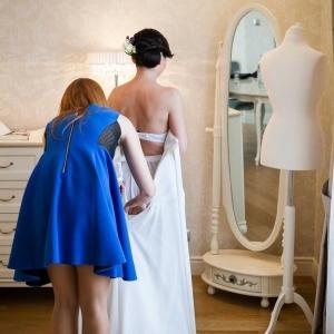przygotowania do ślubu w domu Panny Młodej